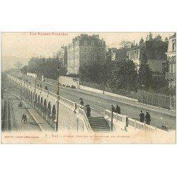 carte postale ancienne 64 PAU. Avenue Léon Say et Boulevard des Pyrénées