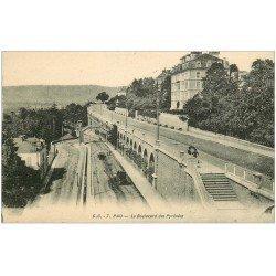 carte postale ancienne 64 PAU. Boulevard des Pyrénées