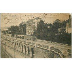 carte postale ancienne 64 PAU. Boulevard des Pyrénées 1903. Petit manque coin droit...