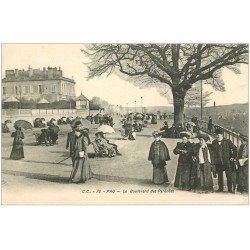 carte postale ancienne 64 PAU. Boulevard des Pyrénées 1921