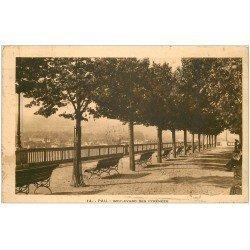 carte postale ancienne 64 PAU. Boulevard des Pyrénées 1932