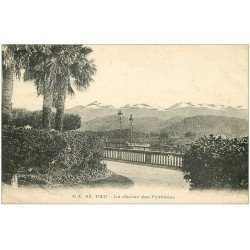 carte postale ancienne 64 PAU. Chaîne des Pyrénées 1927