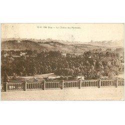 carte postale ancienne 64 PAU. Chaîne des Pyrénées 1933