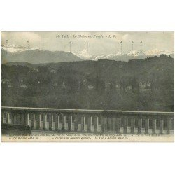 carte postale ancienne 64 PAU. Chaîne des Pyrénées n° 14
