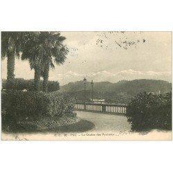 carte postale ancienne 64 PAU. Chaîne Pyrénées 1915