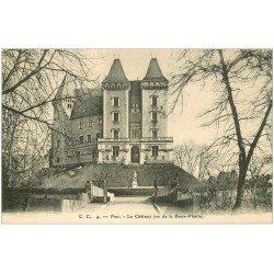 carte postale ancienne 64 PAU. Château vue de la Basse-Plante
