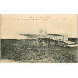 carte postale ancienne 64 PAU. Départ Aéroplane White-Eagle. Appareil Blériot record de vitesse