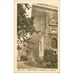 carte postale ancienne 64 PAU. Donjon et Chapelle Château Henri IV
