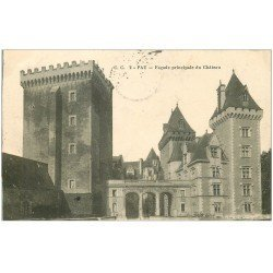 carte postale ancienne 64 PAU. Façade Château 1915