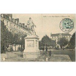 carte postale ancienne 64 PAU. Hôtel de Ville Place royale 1906