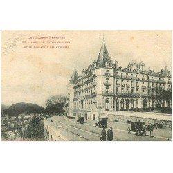 carte postale ancienne 64 PAU. Hôtel Gassion et Fiacres Boulevard des Pyrénées