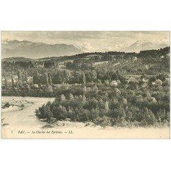 carte postale ancienne 64 PAU. La Chaîne des Pyrénées