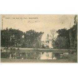 carte postale ancienne 64 PAU. Lac du Parc Beaumont 1903