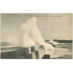 carte postale ancienne 64 SAINT-JEAN-DE-LUZ. Digue de Socoa et effet de Mer