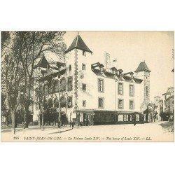 carte postale ancienne 64 SAINT-JEAN-DE-LUZ. La Maison Louis XIV et Magasin au Paradis pour Dames