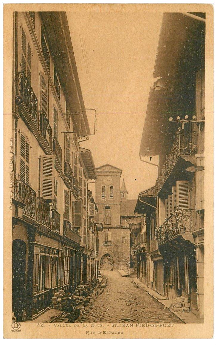 64 saint jean pied de port rue d 39 espagne - Saint jean pied de port carte ...