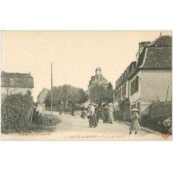 carte postale ancienne 64 SALIES-DE-BEARN. Eglise Saint-Martin