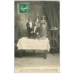 carte postale ancienne 64 SALIES-DE-BEARN. Les Lilliputiens Béarnais 1912