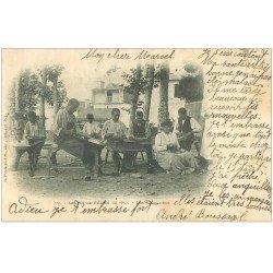 carte postale ancienne 64 SALIES-DE-BEARN. Les Sandaliers 1902