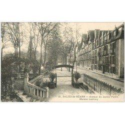 carte postale ancienne 64 SALIES-DE-BEARN. Maison Larrouy Avenue du Jardin Public 1939