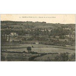 carte postale ancienne 64 SALIES-DE-BEARN. Salines Quartier de la Gare 1930
