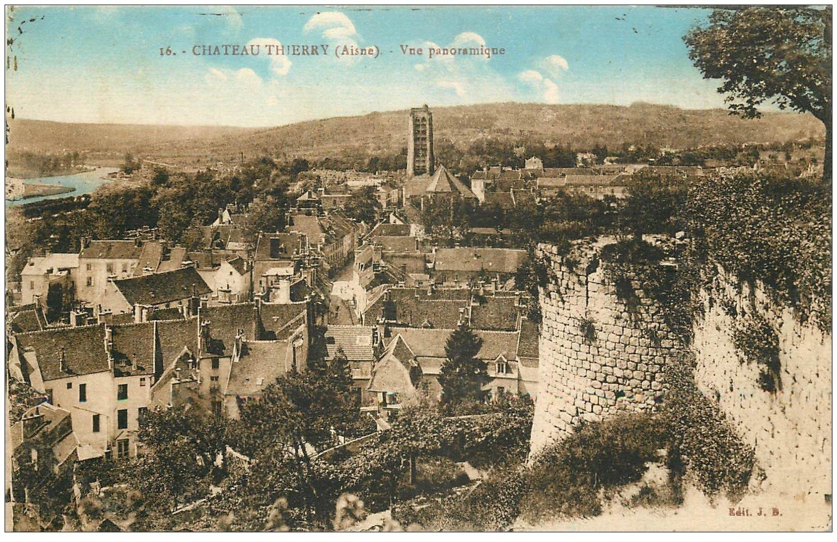 02 Chateau Thierry Vue Panoramique Plissure Coin Gauche