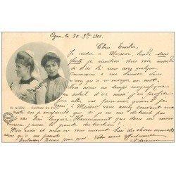 carte postale ancienne 47 AGEN. Coiffure du Pays 1901