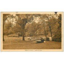 carte postale ancienne 47 AGEN. Jardin de Jayan 1934