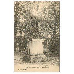 carte postale ancienne 47 AGEN. La Marseillaise 1918. Tampon Vaguemestre
