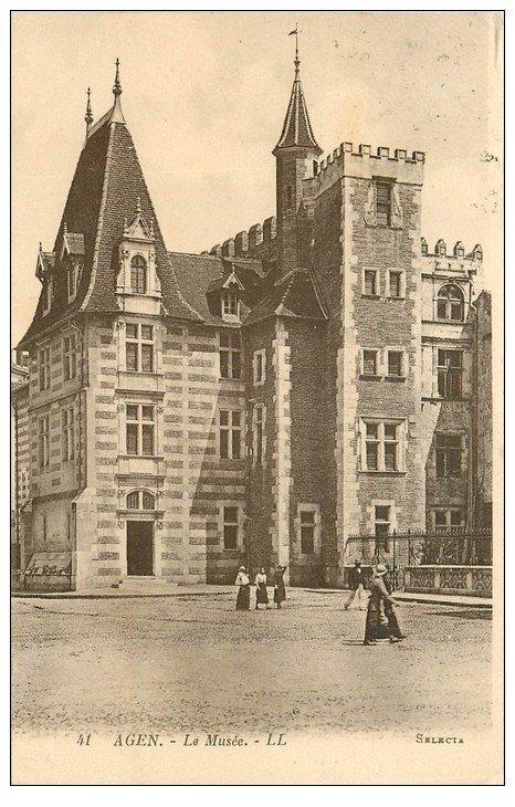 carte postale ancienne 47 AGEN. Le Musée 1924