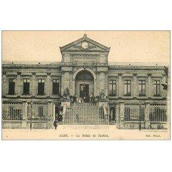 carte postale ancienne 47 AGEN. Le Palais de Justice