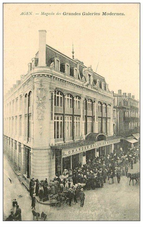 carte postale ancienne 47 AGEN. Magasin des Grandes Galeries Modernes