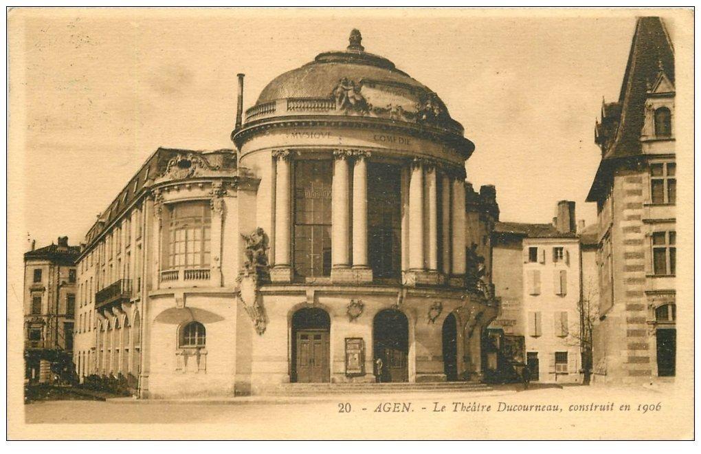 carte postale ancienne 47 AGEN. Théâtre Ducourneau