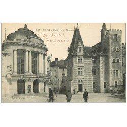 carte postale ancienne 47 AGEN. Théâtre et Musée