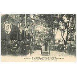 carte postale ancienne 47 ALLEMANS-DU-DROPT. Inauguration Monument Deluns-Montaud 1909. Discours Président