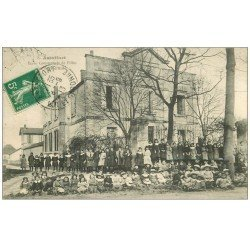 carte postale ancienne 47 ASTAFFORT. Ecole Communale de Filles et Salle d'Asile 1913
