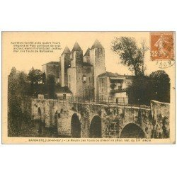 carte postale ancienne 47 BARBASTE. La Moulin des Tours ou Henri IV 1929