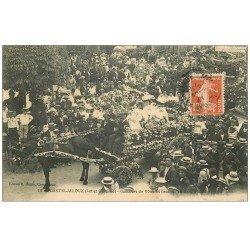 carte postale ancienne 47 CASTELJALOUX. Concours de Voitures fleuries 1907