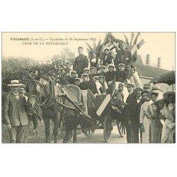 carte postale ancienne 47 COCUMONT. Cavalcade en 1913. Char de la République