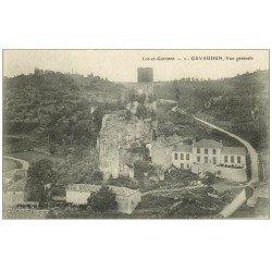 carte postale ancienne 47 GAVAUDUN. Vue générale