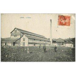 carte postale ancienne 47 LIBOS. L'Usine Produits Réfractaire 1915