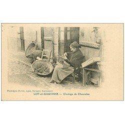 carte postale ancienne 47 LOT-ET-GARONNE. Ciselage du Chasselas. Vieux métiers
