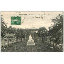 carte postale ancienne 47 MARMANDE. Jardin du Boulevard Gambetta 1913