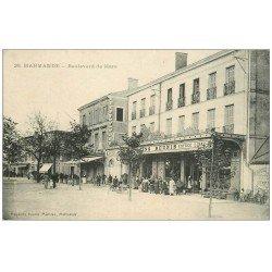 carte postale ancienne 47 MARMANDE. Magasins Réunis Boulevard de Maré 1917