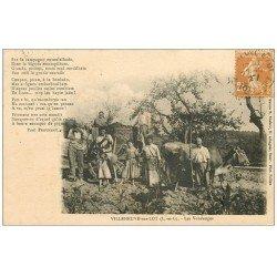 carte postale ancienne 47 VILLENEUVE-SUR-LOT. Les Vendanges 1927. Vignes et Vignobles