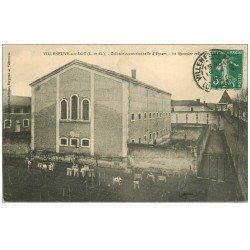 carte postale ancienne 47 VILLENEUVE-SUR-LOT. Quartier Cellulaire Colonie correctionnelle d'Eysses 1911