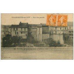 carte postale ancienne 47 VILLENEUVE-SUR-LOT. Rive gauche 1922