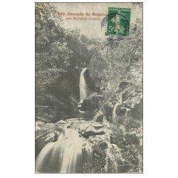 carte postale ancienne 48 CASCADE DE REGOURDEL. Près Marvejols 1908