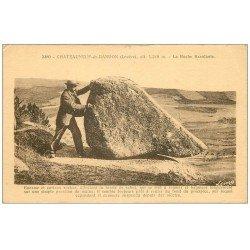 carte postale ancienne 48 CHATEAUNEUF-DE-RANDON. La Roche Branlante