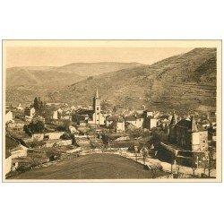 carte postale ancienne 48 FLORAC. Eglise et Château